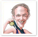 Steve Redgrave : Sports caricature