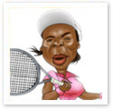 Venus Williams : Sports caricature
