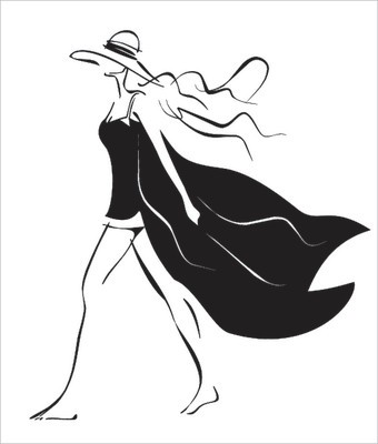 Simple Summer Wear : Fashion Illustration A simple black and white